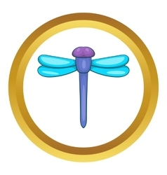 Dragonfly icon vector image