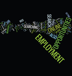 Employment opportunities by tom husnik text vector