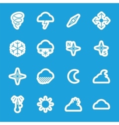 Flat weather stickers set vector image vector image