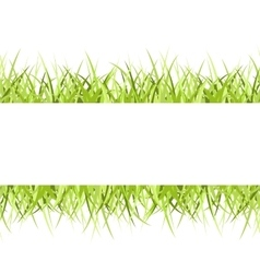 Grass frame vector image vector image