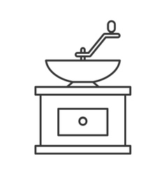 Grind machine coffee icon vector