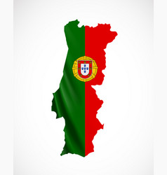 hanging portugal flag in form of map portuguese vector image