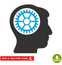 Head cogwheel eps icon vector