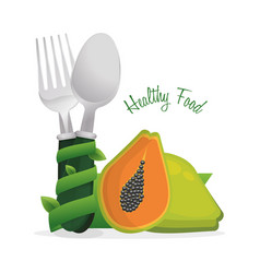 Healthy food diet cook poster vector