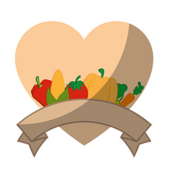 isolated vegetables banner vector image vector image