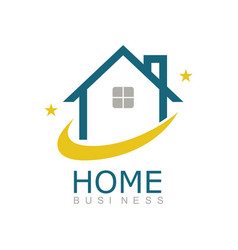 line home business logo vector image