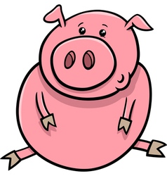 little pig or piglet cartoon vector image vector image