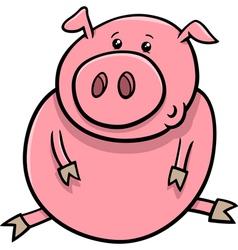 Little pig or piglet cartoon vector