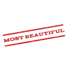Most Beautiful Watermark Stamp vector image