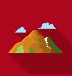 Mountain icon in flat style for web vector
