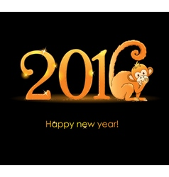 New Year card with monkey2 vector image