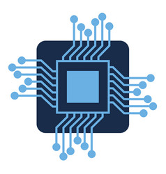processor circuit isolated icon vector image vector image