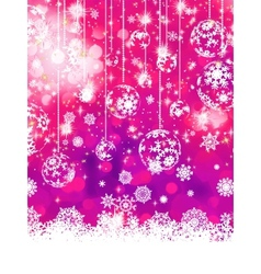 Purple Christmas background EPS 8 vector image vector image