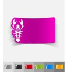 realistic design element crayfish vector image