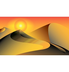 Sand dunes in desert vector