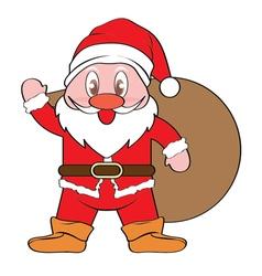 Santa Claus Xmas vector image