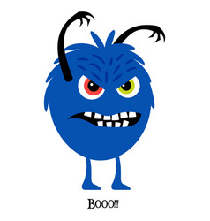 scary monster cute print for t-shirt vector image