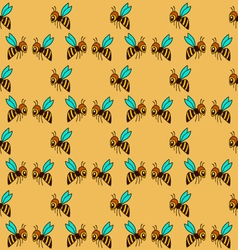 Seamless pattern with bee - 1 vector
