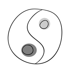 Yin and yang vector image