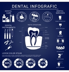 Dental and teeth care infografics vector
