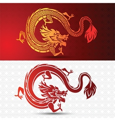 Chinese dragon 2 vector image