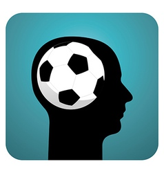 Soccer ball brains vector
