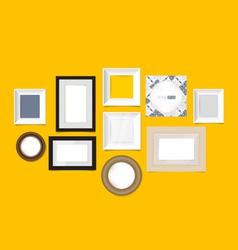 Modern picture frames vector