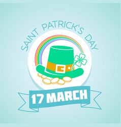 17 march patricks day vector
