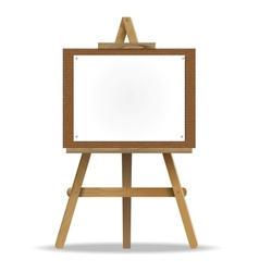 White canvas on an easel vector