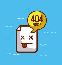 404 error background vector image vector image