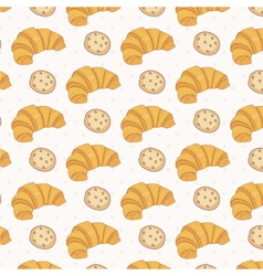 Seamless pattern of croissant vector