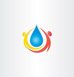 Cold mineral drop of water people icon vector