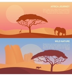 Landscape in savanna vector
