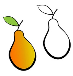 Yellow pears vector