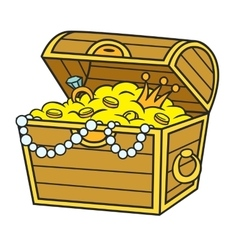 Cartoon pirate treasure vector