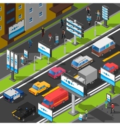 Street Advertising Isometric vector image