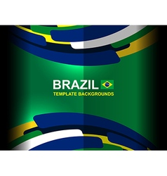 Brazil template color backgrounds vector