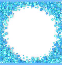 Blue carnaval confetti background vector