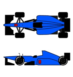 blue racing car vector image