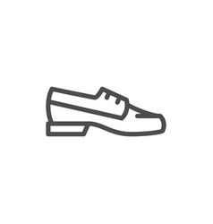 boat shoe line icon vector image
