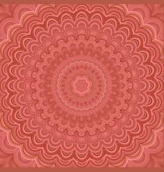 Bohemian mandala fractal background - circular vector
