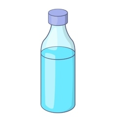 Bottle icon cartoon style vector image vector image