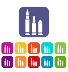 bullets icons set vector image