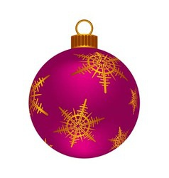Christmas pink ball vector image