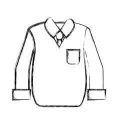 Contour shirt with tie and vest of wool cloth vector
