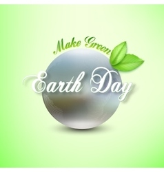 Earth day background with the words blurred vector