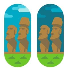 Flat design moai easter vector