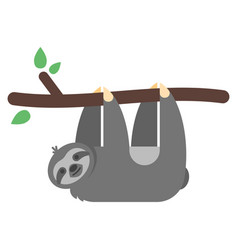 Flat style of sloth vector