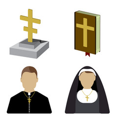 funeral cartoon icon isolated vector image