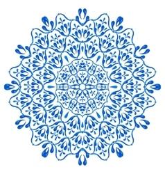 Gzhel circular pattern vector